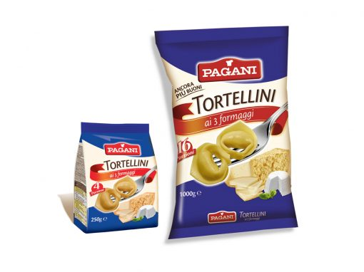 Tortellini with three cheese filling